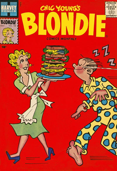 Cover for Blondie Comics Monthly (Harvey, 1950 series) #102