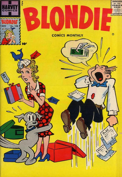 Cover for Blondie Comics Monthly (Harvey, 1950 series) #108