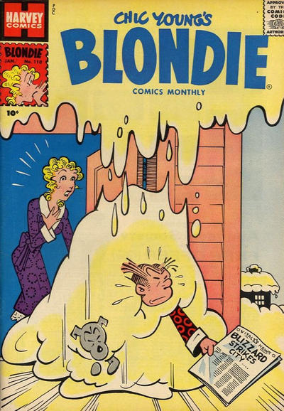 Cover for Blondie Comics Monthly (Harvey, 1950 series) #110