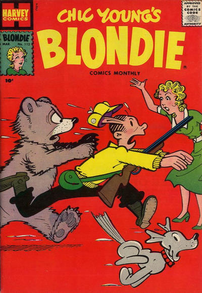 Cover for Blondie Comics Monthly (Harvey, 1950 series) #112