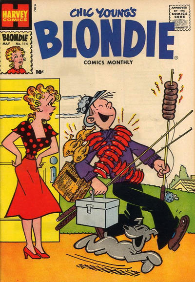 Cover for Blondie Comics Monthly (Harvey, 1950 series) #114