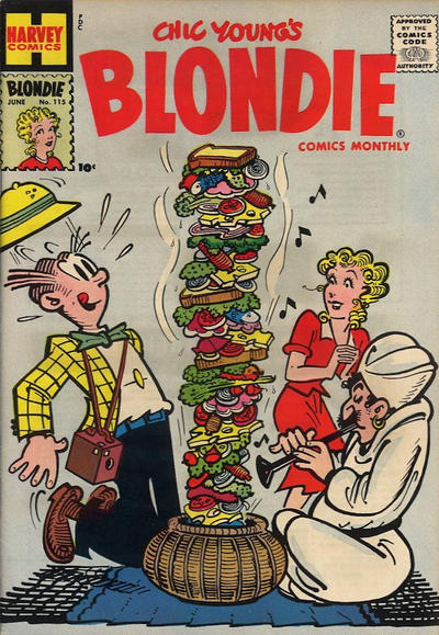 Cover for Blondie Comics Monthly (Harvey, 1950 series) #115