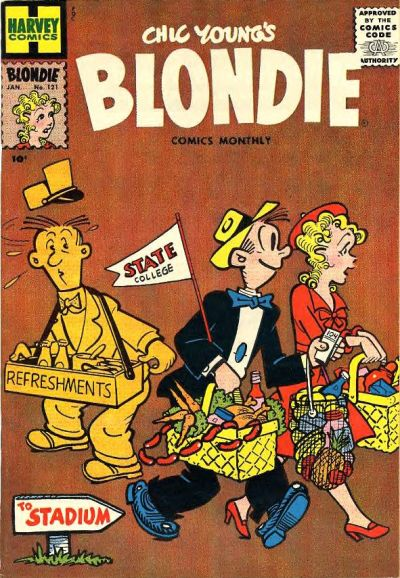 Cover for Blondie Comics Monthly (Harvey, 1950 series) #121