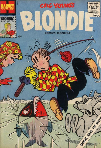 Cover for Blondie Comics Monthly (Harvey, 1950 series) #123