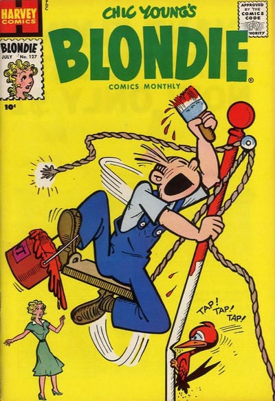 Cover for Blondie Comics Monthly (Harvey, 1950 series) #127