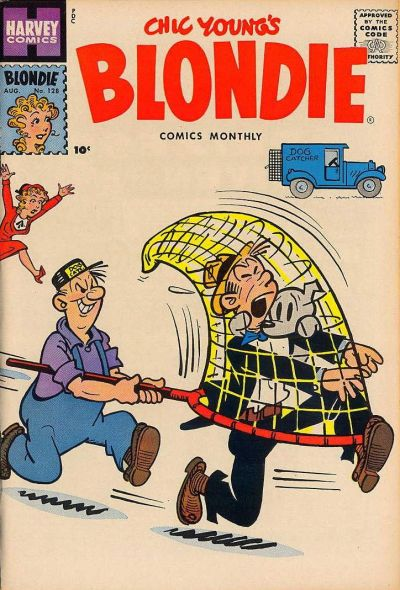 Cover for Blondie Comics Monthly (Harvey, 1950 series) #128