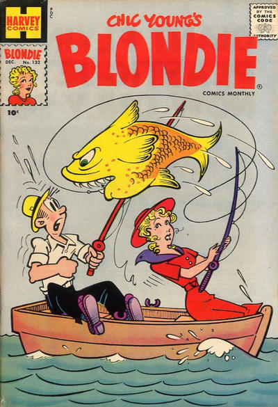 Cover for Blondie Comics Monthly (Harvey, 1950 series) #132