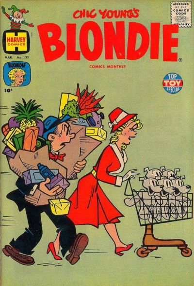 Cover for Blondie Comics Monthly (Harvey, 1950 series) #135