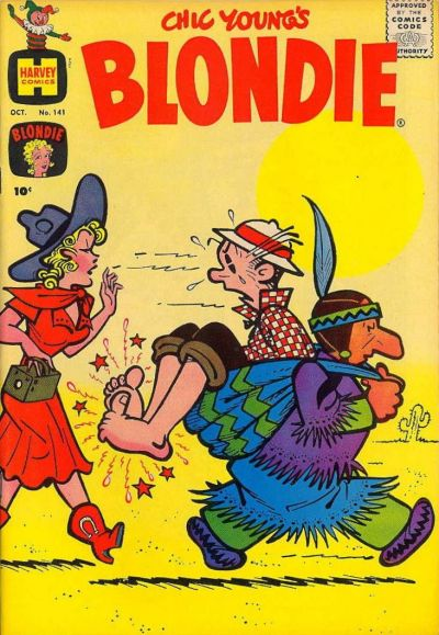 Cover for Blondie Comics Monthly (Harvey, 1950 series) #141