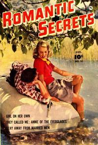 Cover Thumbnail for Romantic Secrets (Fawcett, 1949 series) #33