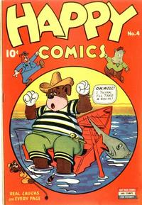 Cover Thumbnail for Happy Comics (Pines, 1943 series) #4