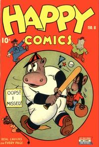 Cover Thumbnail for Happy Comics (Pines, 1943 series) #8