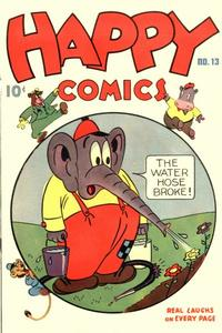 Cover Thumbnail for Happy Comics (Pines, 1943 series) #13