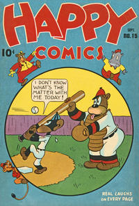 Cover Thumbnail for Happy Comics (Pines, 1943 series) #15