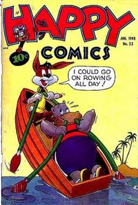 Cover Thumbnail for Happy Comics (Pines, 1943 series) #23