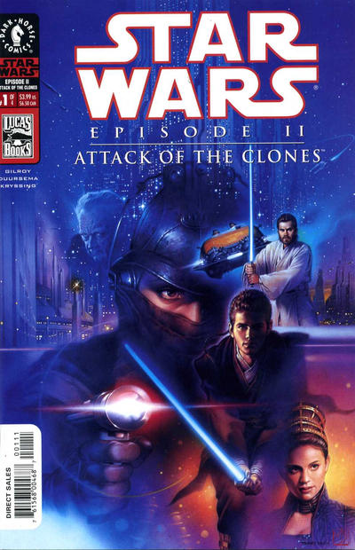 Cover for Star Wars: Episode II - Attack of the Clones (Dark Horse, 2002 series) #1 [Cover B - Photo Cover Newsstand]