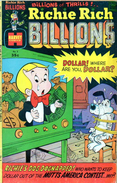 Cover for Richie Rich Billions (Harvey, 1974 series) #3