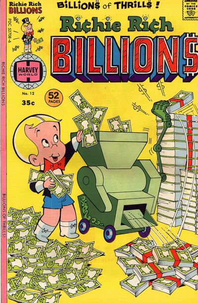 Cover for Richie Rich Billions (Harvey, 1974 series) #12