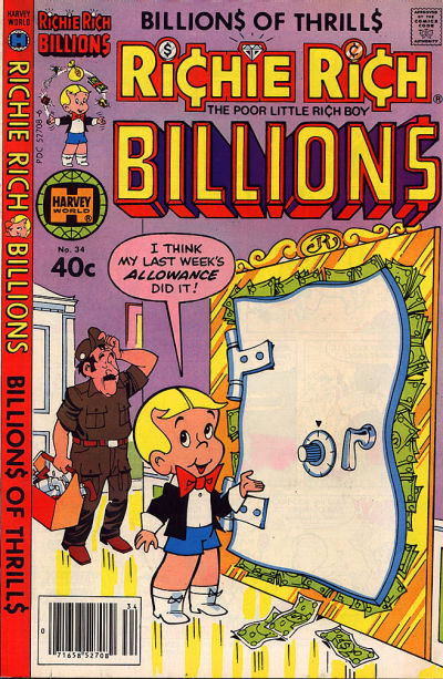 Cover for Richie Rich Billions (Harvey, 1974 series) #34