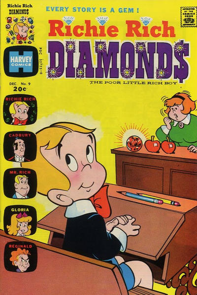 Cover for Richie Rich Diamonds (Harvey, 1972 series) #9
