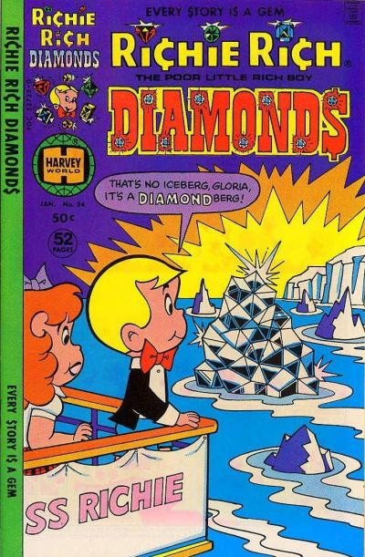 Cover for Richie Rich Diamonds (Harvey, 1972 series) #34