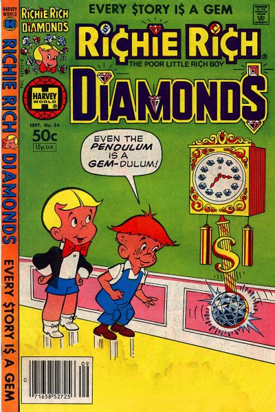 Cover for Richie Rich Diamonds (Harvey, 1972 series) #54