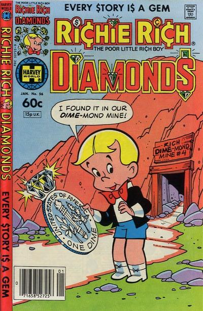 Cover for Richie Rich Diamonds (Harvey, 1972 series) #56