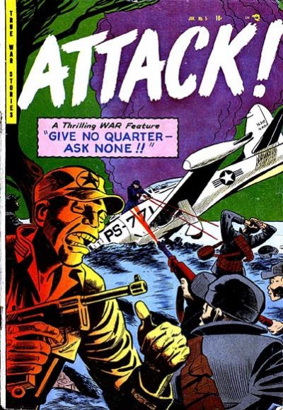 Cover for Attack! (Trojan Magazines, 1953 series) #5 [1]
