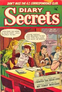 Cover for Diary Secrets (St. John, 1952 series) #24