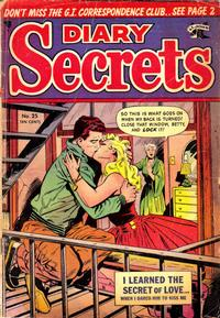Cover Thumbnail for Diary Secrets (St. John, 1952 series) #25