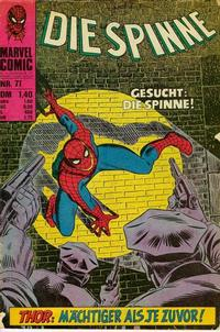 Cover Thumbnail for Die Spinne (BSV - Williams, 1974 series) #71