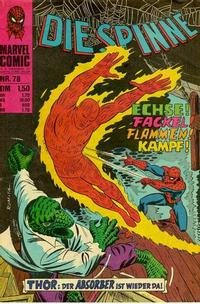 Cover Thumbnail for Die Spinne (BSV - Williams, 1974 series) #78