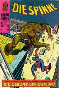 Cover Thumbnail for Die Spinne (BSV - Williams, 1974 series) #111
