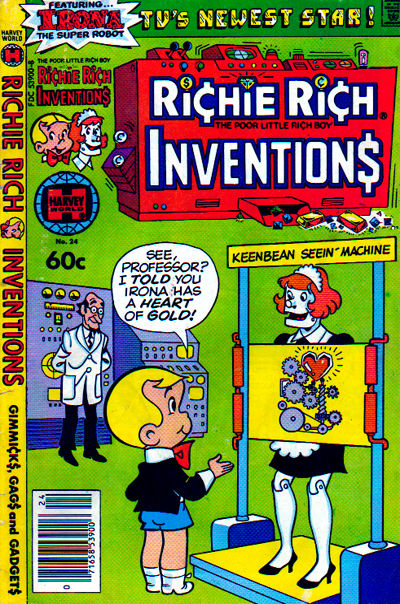 Cover for Richie Rich Inventions (Harvey, 1977 series) #24