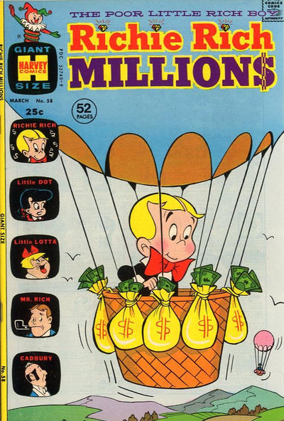 Cover for Richie Rich Millions (Harvey, 1961 series) #58
