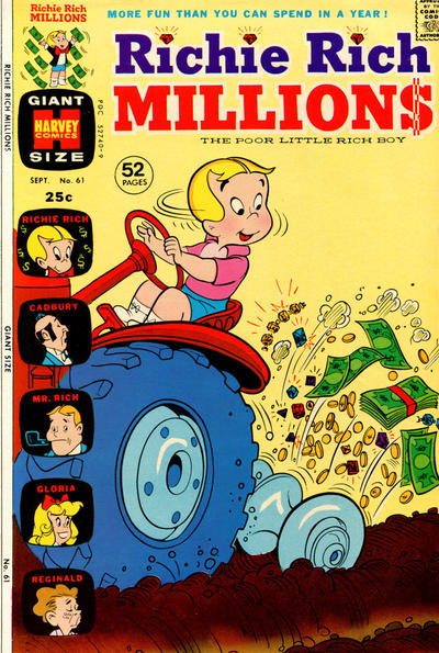 Cover for Richie Rich Millions (Harvey, 1961 series) #61