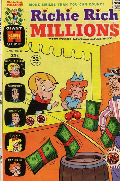 Cover for Richie Rich Millions (Harvey, 1961 series) #63