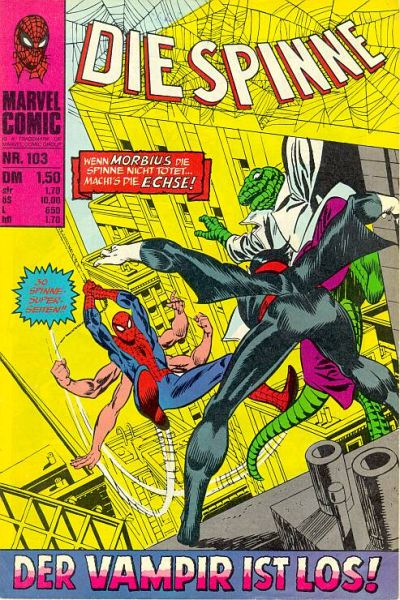 Cover for Die Spinne (BSV - Williams, 1974 series) #103
