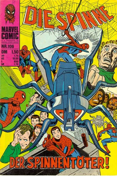 Cover for Die Spinne (BSV - Williams, 1974 series) #106