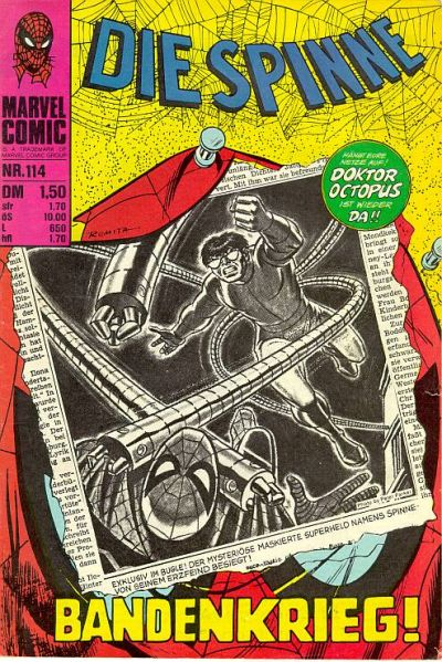 Cover for Die Spinne (BSV - Williams, 1974 series) #114