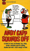 Cover for Andy Capp Sounds Off (Gold Medal Books, 1966 series) #D1855