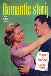 Cover Thumbnail for Romantic Story (Fawcett, 1949 series) #15