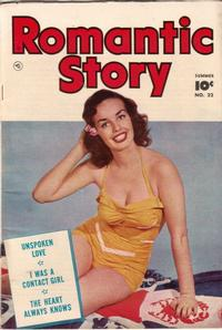Cover Thumbnail for Romantic Story (Fawcett, 1949 series) #22