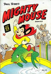Cover Thumbnail for Paul Terry's Mighty Mouse Comics (St. John, 1951 series) #22 [52-pages]