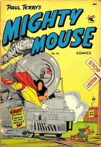 Cover Thumbnail for Paul Terry's Mighty Mouse Comics (St. John, 1951 series) #40