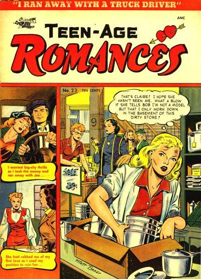 Cover for Teen-Age Romances (St. John, 1949 series) #23
