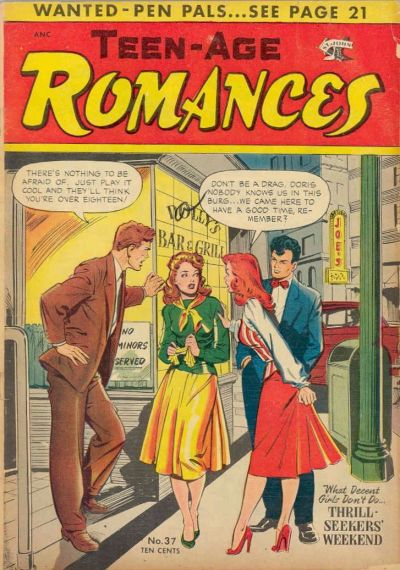 Cover for Teen-Age Romances (St. John, 1949 series) #37