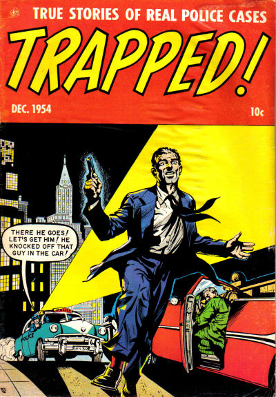 Cover for Trapped! (Ace Magazines, 1954 series) #2