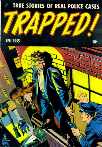 Cover for Trapped! (Ace Magazines, 1954 series) #3