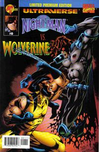 Cover for Night Man vs. Wolverine (Malibu; Marvel, 1995 series) #0 [Limited Super Premium Edition]
